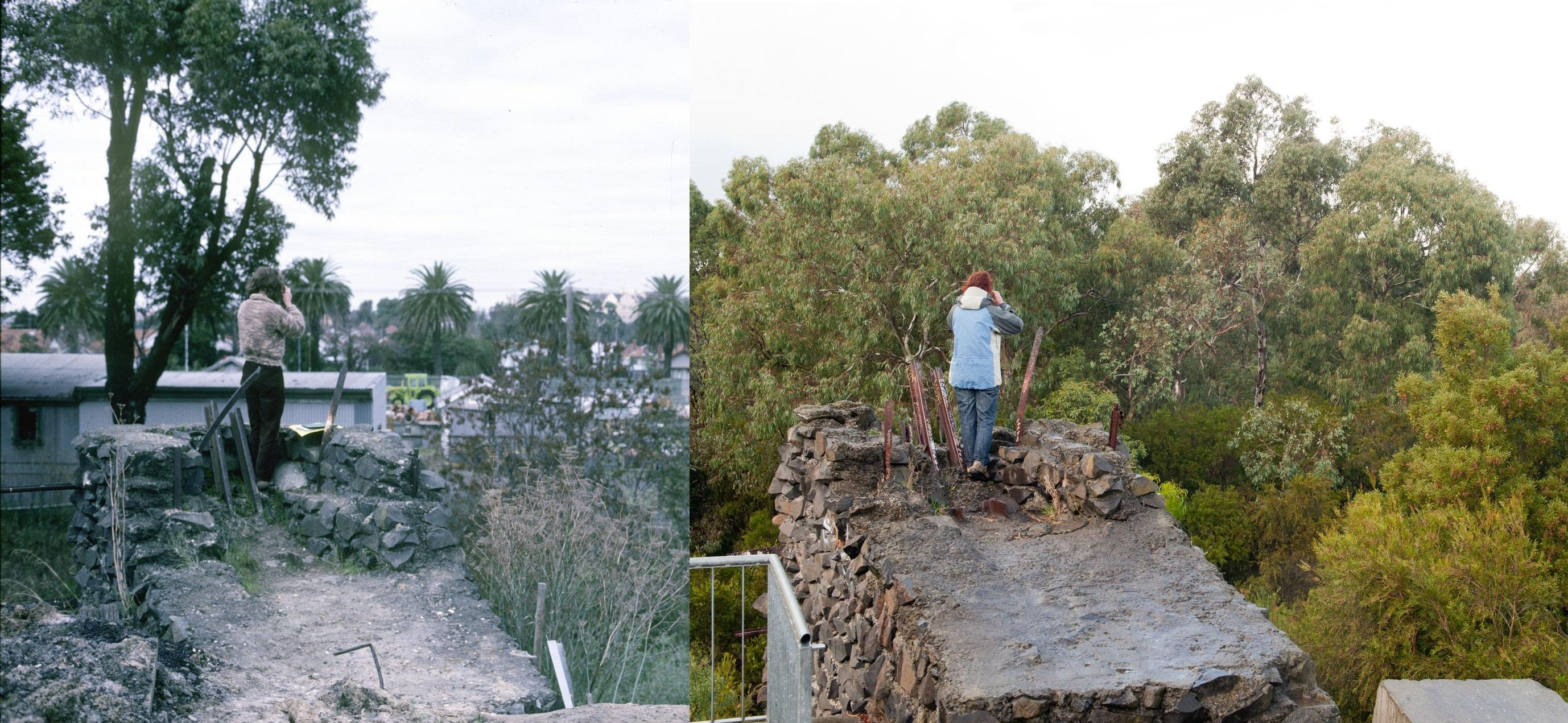 Before and after MMBW depot now Merri Park 1986 B McGregor