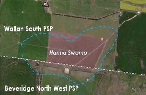 Hanna Swamp aerial map