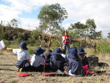 Students enjoying their large outdoor classroom